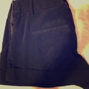 Black Express dress shorts